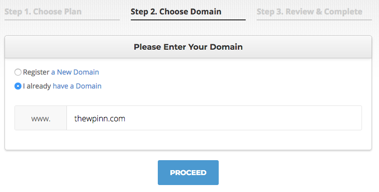 Domain owned