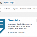 WP Classic Editor