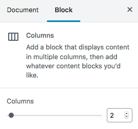 Getting Fancy with Column Blocks