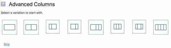 Content Display and Columns Blocks