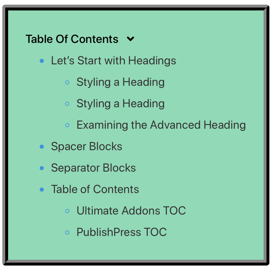 Table of Contents image